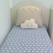 Kit cama solteiro 3 peças - Nuvem