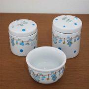 Kit de higiene Porcelana Urso Varal 3 peças