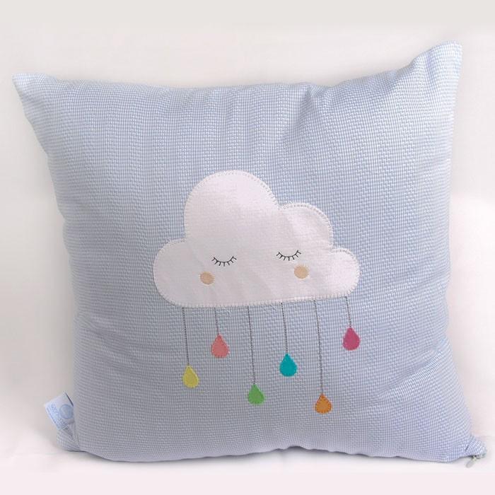 Almofada decorativa nuvem com gota  - Gatinhando Quarto dos Sonhos