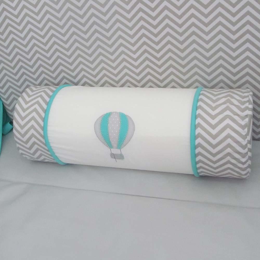 Almofada de rolo para berço - Balão  - Gatinhando Quarto dos Sonhos