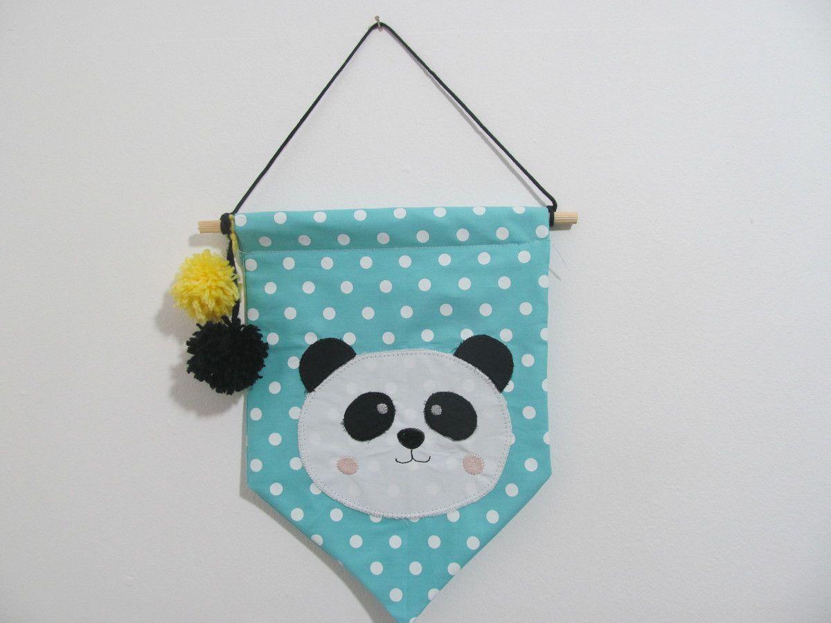 Flâmula Panda - 2 peças  - Gatinhando Quarto dos Sonhos