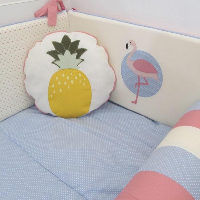 Kit de berço Flamingo - 10 peças  - Gatinhando Quarto dos Sonhos