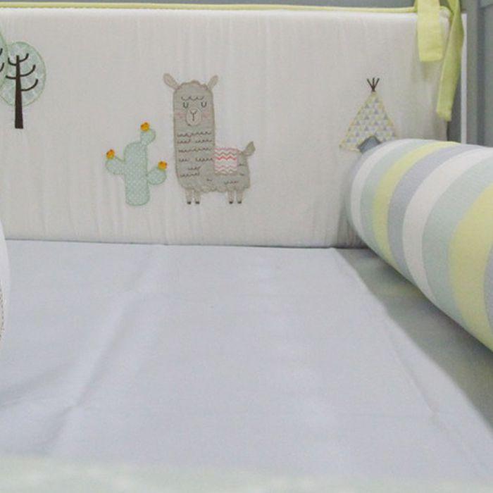 Kit berço Lhama 9 peças  - Gatinhando Quarto dos Sonhos