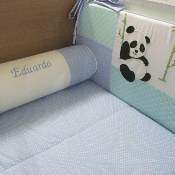 Kit berço Panda - 9 peças   - Gatinhando Quarto dos Sonhos