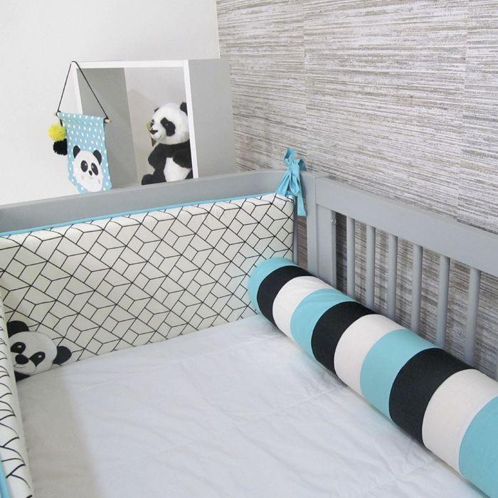 Kit berço Panda II - 9 peças  - Gatinhando Quarto dos Sonhos