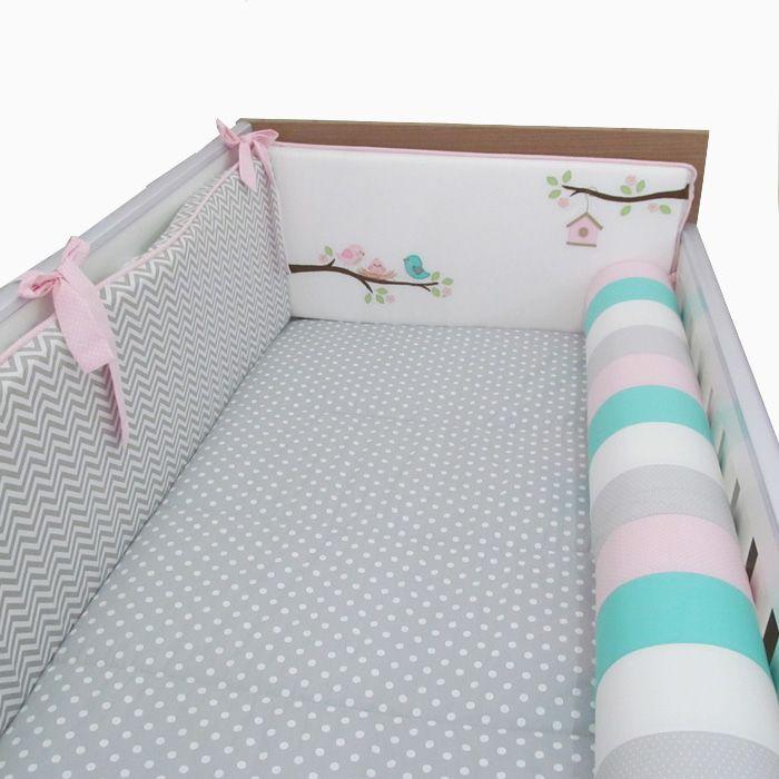 kit berço passarinho no ninho II - 9 peças   - Gatinhando Quarto dos Sonhos