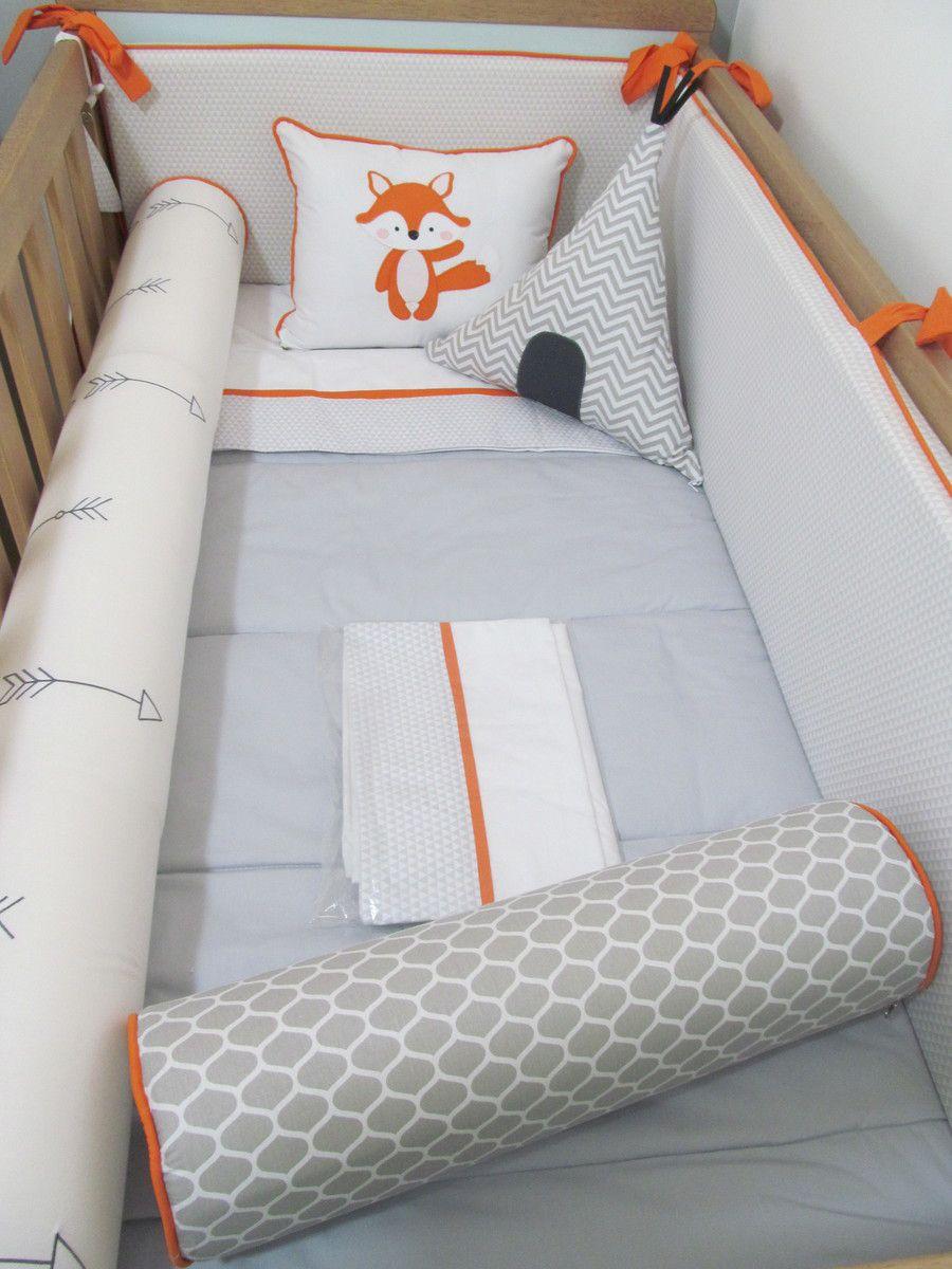 Kit berço Raposa II - 11 peças  - Gatinhando Quarto dos Sonhos