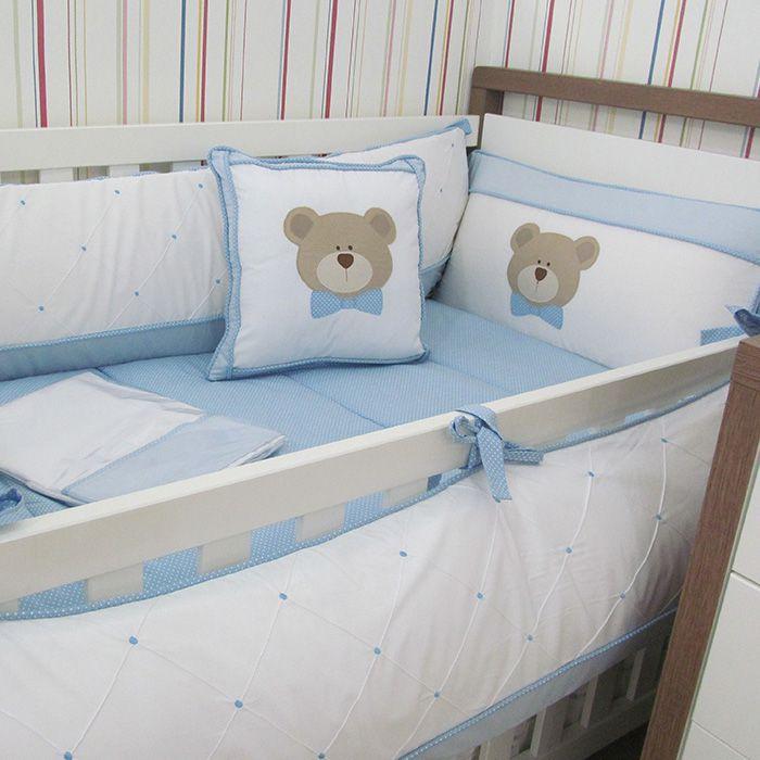 Kit berço Urso de gravata - 10 peças  - Gatinhando Quarto dos Sonhos