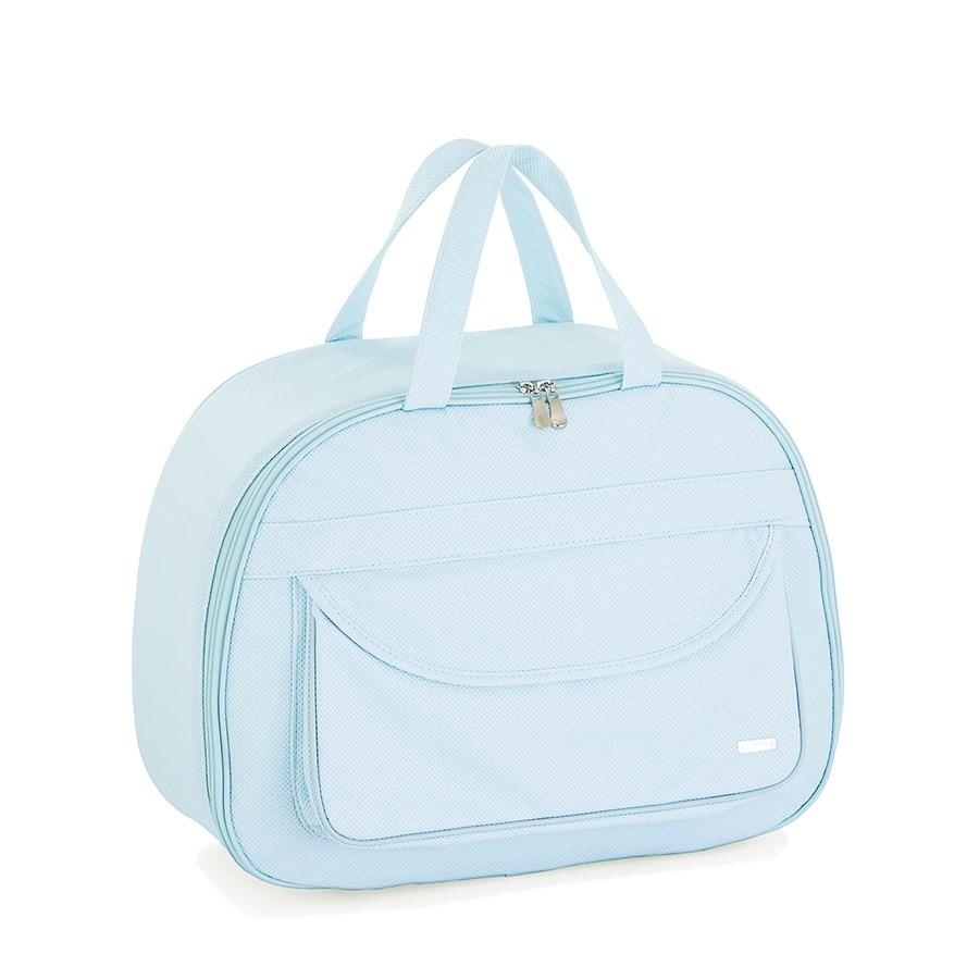 Kit bolsas 3 peças - Colmeia azul   - Gatinhando Quarto dos Sonhos