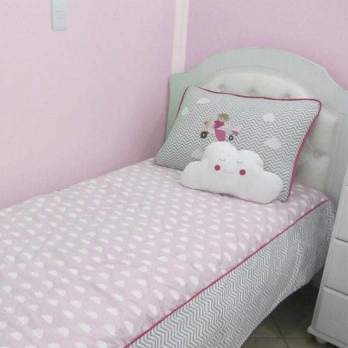 Kit cama de solteiro 3 peças - Urso aviador   - Gatinhando Quarto dos Sonhos