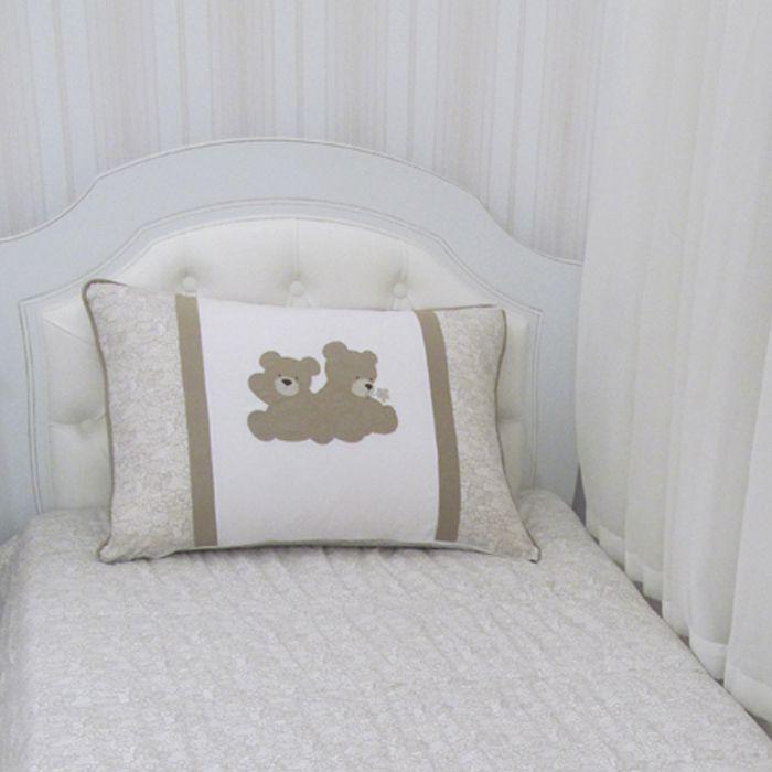 Kit cama solteiro irmão Urso - 3 peças  - Gatinhando Quarto dos Sonhos