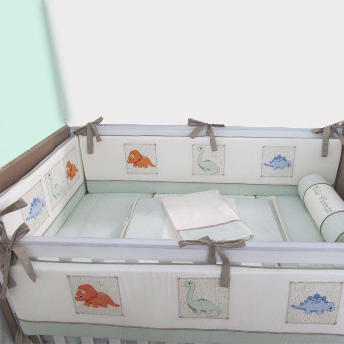 Kit de berço 9 peças - Dino  - Gatinhando Quarto dos Sonhos