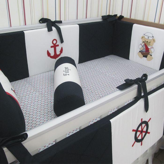 Kit de berço Marinheiro I - 9 peças  - Gatinhando Quarto dos Sonhos