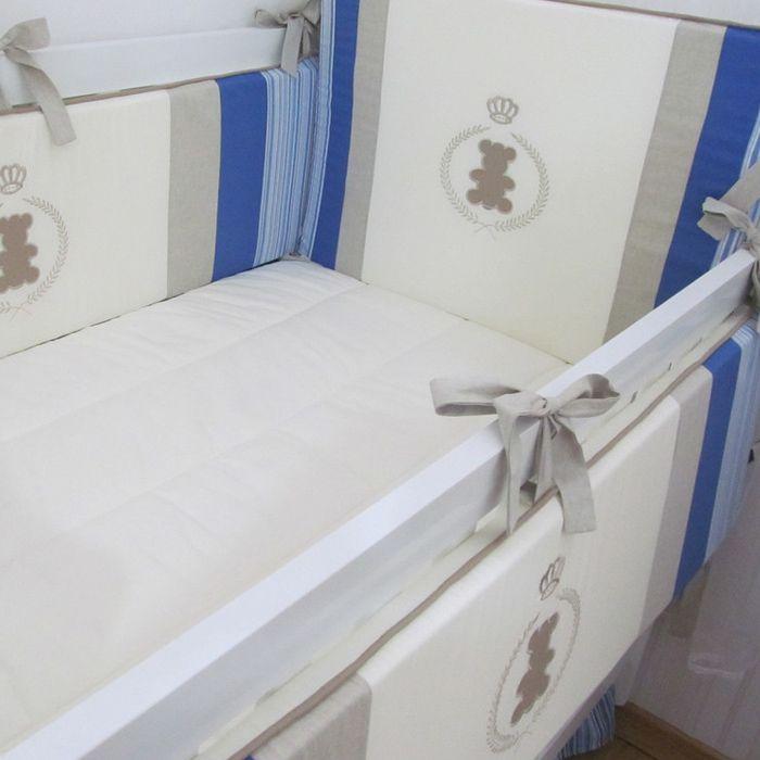Kit de berço Urso com brasão - 9 peças  - Gatinhando Quarto dos Sonhos