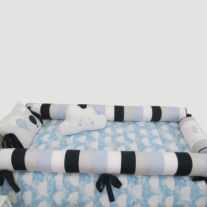 Kit para cama montessoriano -  solteiro   - Gatinhando Quarto dos Sonhos