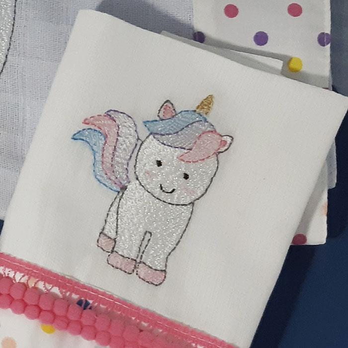 Kit presente Unicornio 5 peças  - Gatinhando Quarto dos Sonhos