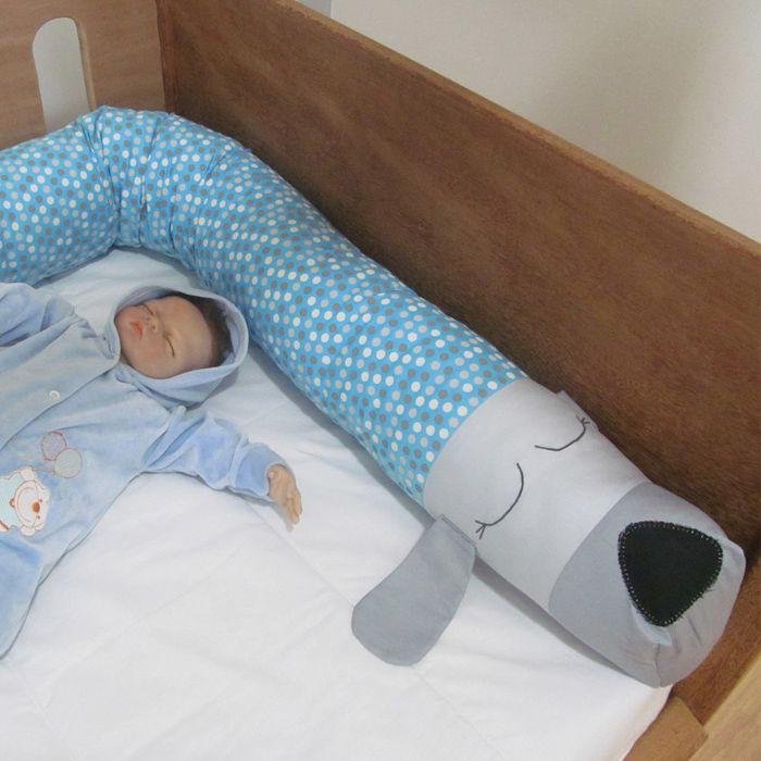 Rolo protetor minhocão - Cachorrinho   - Gatinhando Quarto dos Sonhos