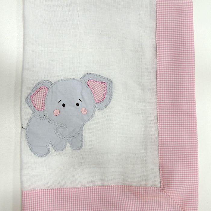 Toalha de banho fralda Elefante  - Gatinhando Quarto dos Sonhos
