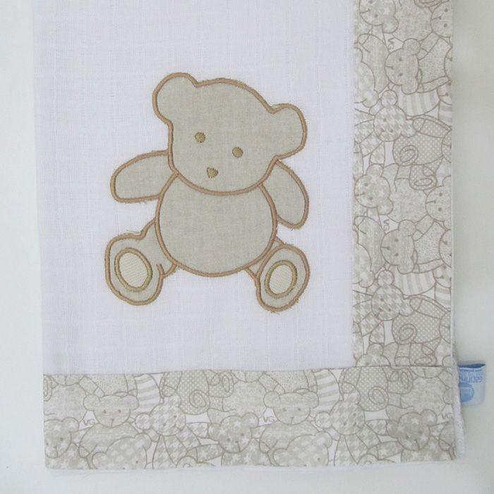 Toalha de banho fralda - Urso   - Gatinhando Quarto dos Sonhos