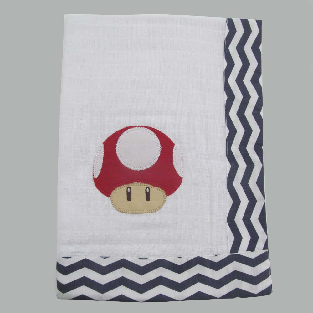 Toalha de banho fralda Mario Bross  - Gatinhando Quarto dos Sonhos