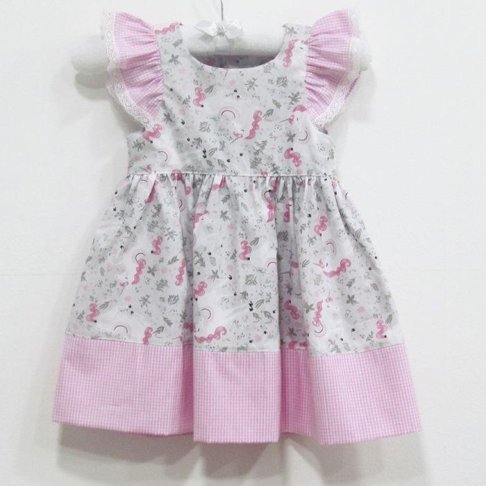 Vestido aninha Unicórnio   - Gatinhando Quarto dos Sonhos