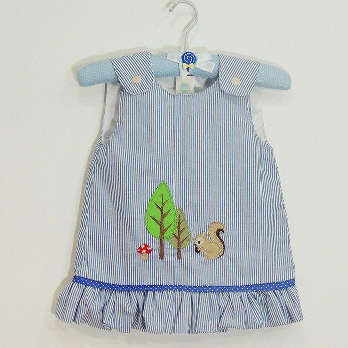 Vestido Esquilinho Azul   - Gatinhando Quarto dos Sonhos
