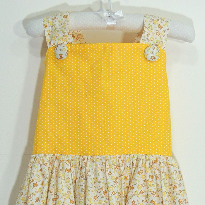 Vestido Flora Amarelo   - Gatinhando Quarto dos Sonhos
