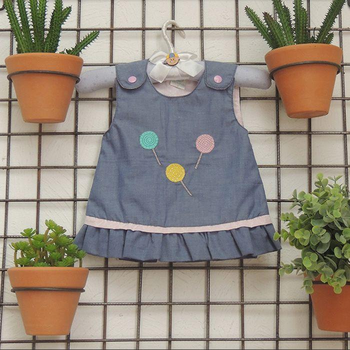 Vestido Jeans Pirulito  - Gatinhando Quarto dos Sonhos
