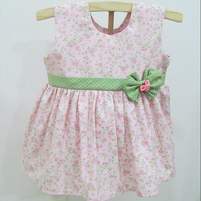 Vestido Laço Verde   - Gatinhando Quarto dos Sonhos