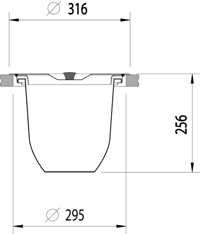 Lixeira para Granito 8 Litros Inox/Plástico Tramontina 94518/000
