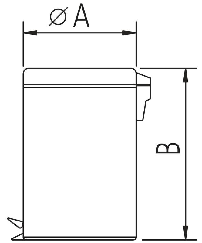 Lixeira Aço Inox com Pedal e Balde Removível 3 Litros Tramontina 94538/103