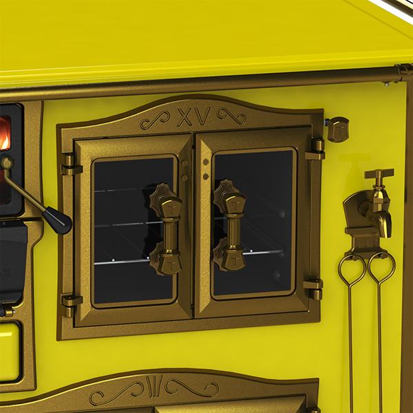Imperador Vítreo Amarelo saída lado direito