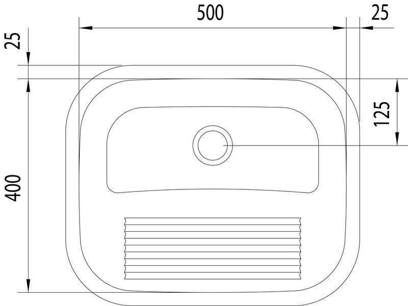 Tanque de Encaixe 27L Acetinado (Compr. X Larg. X Alt.): 500x 400x 230 mm. 94400/107 Tramontina