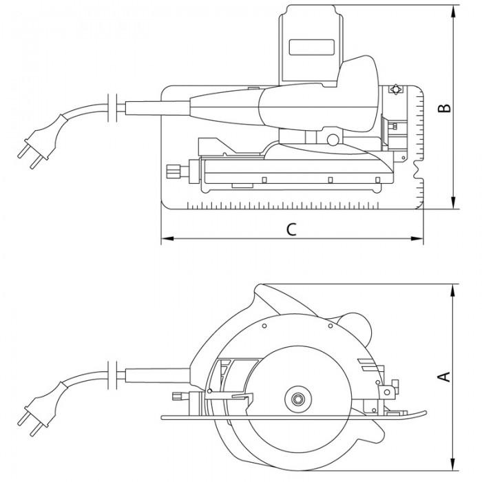 Serra Circular 7.1/4´ 1350W Tramontina 42512/020  220V