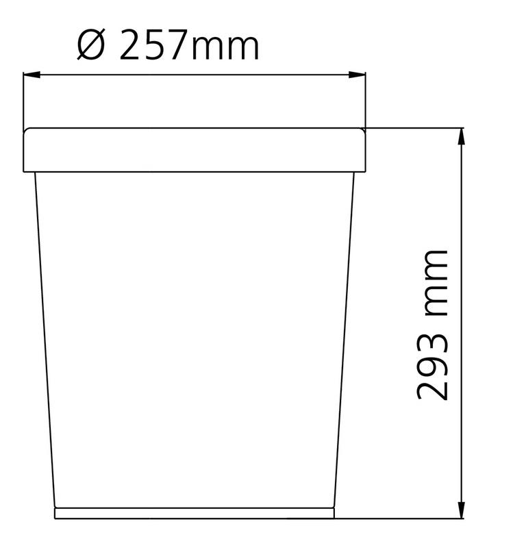 Cesto Cônico para Papel Aço Inox 12 Litros Tramontina 94539/001
