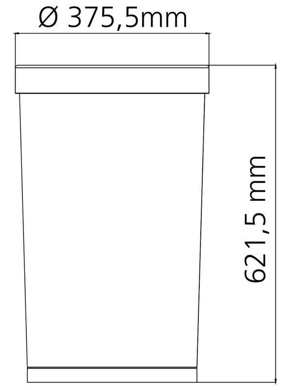 Lixeira Cônica Aço Inox 50 Litros Tramontina 94539/002