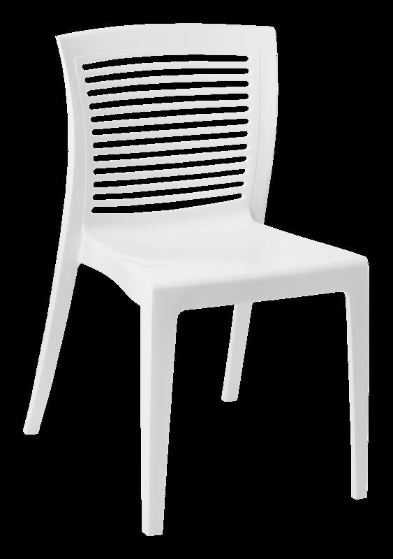 Cadeira Victória Encosto Vazado Horizontal Branca 92041/010 Tramontina