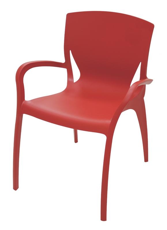 Poltrona Clarice Vermelha Summa 92040/040 Tramontina
