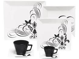 Aparelho de Jantar e Chá/Café 42 peças GM42-2414 Tatoo Oxford
