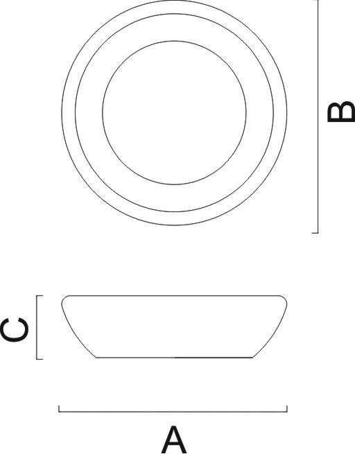 Gamela/Saladeira Redonda 35x35x5,5 cm 10131/100 Tramontina