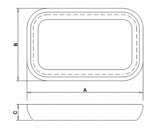 Gamela/Saladeira Retangular 40x25x5,5 cm 10180/100 Tramontina
