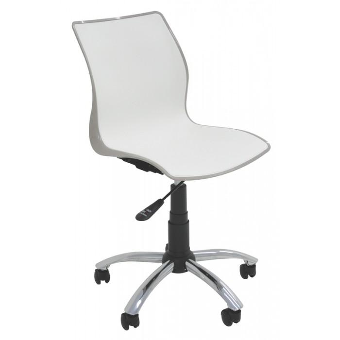 Cadeira com Rodízios MAJA Branco/Camurça Tramontina 92073/210