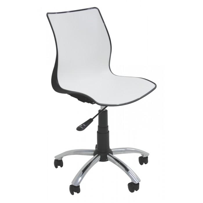 Cadeira com Rodízios MAJA Branco/Preto Tramontina 92073/910