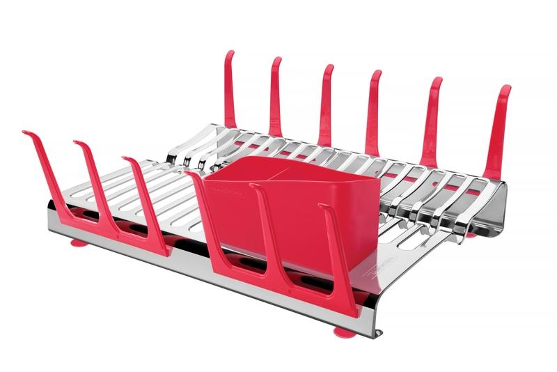 Escorredor de Louças Aço Inox Vermelho 61535/560 Tramontina