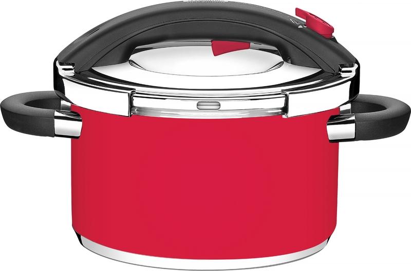 Panela de Pressão Presto Vermelha 24cm 6,00L Design Collection 62518/246 Tramontina