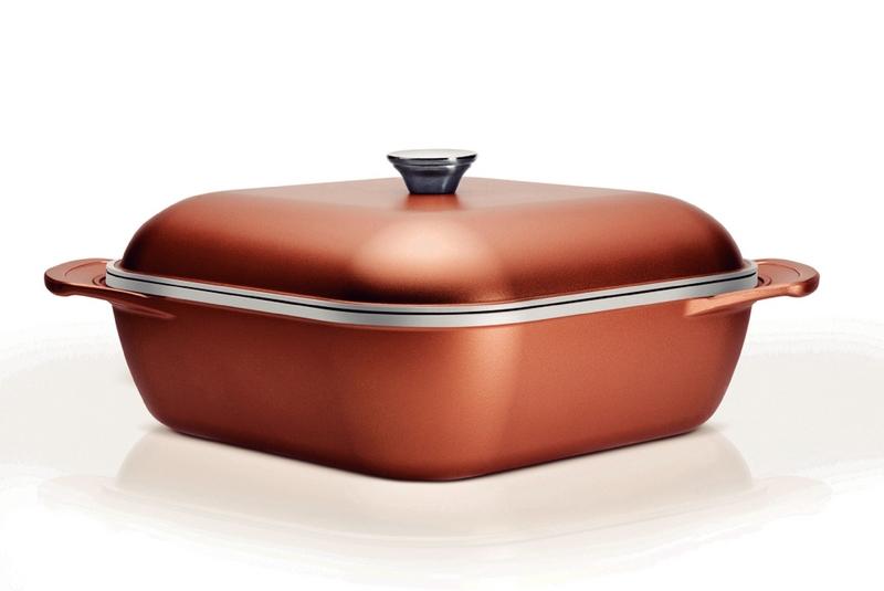 Caçarola Quadrada Lyon Cobre Acabamento Externo Antiaderente Starflon Ceramic Design Collection 20963/428 Tramontina