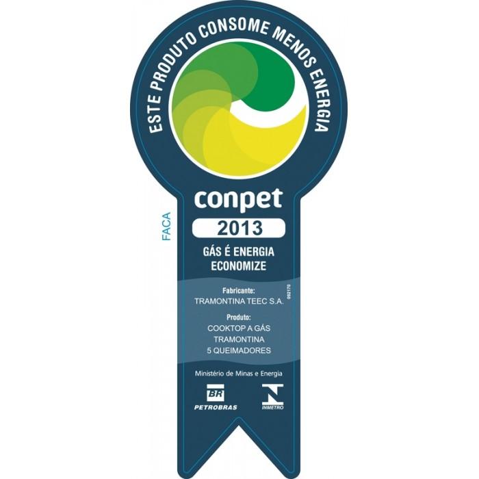 Cooktop Tramontina 5 Bocas Gás Vidro Penta 5GG Tri 70 94708/201