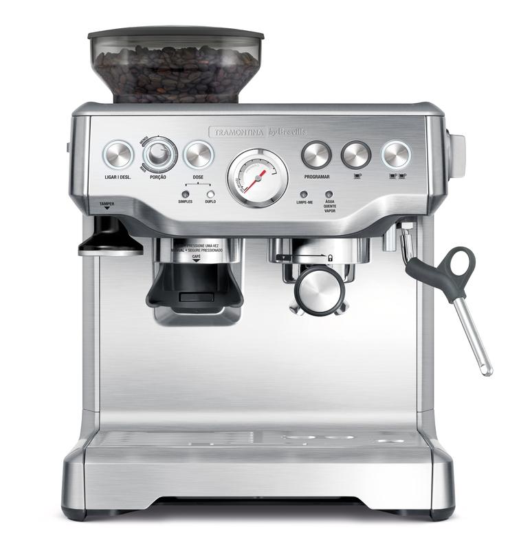 Cafeteira Elétrica Express Pro em Aço Inox com Moedor 2 L 220 V Tramontina by Breville 69066/012