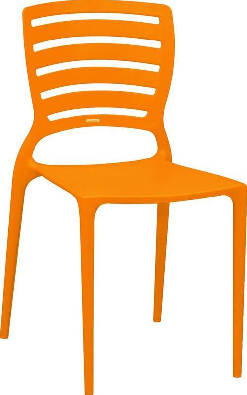 Cadeira Sofia Encosto Vazado Laranja 92237/090 Tramontina