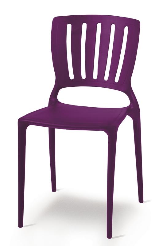 Cadeira Sofia Encosto Vazado Lilás 92035/080 Tramontina